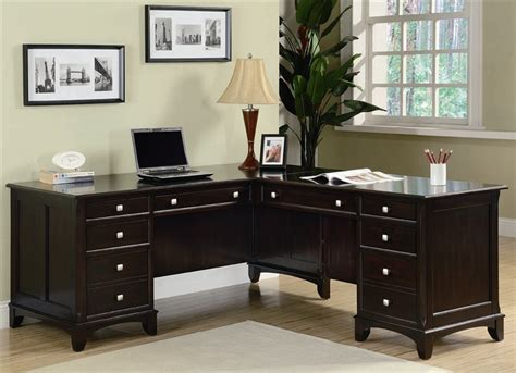coaster oval shaped executive desk garson home office executive l shaped desk in rich