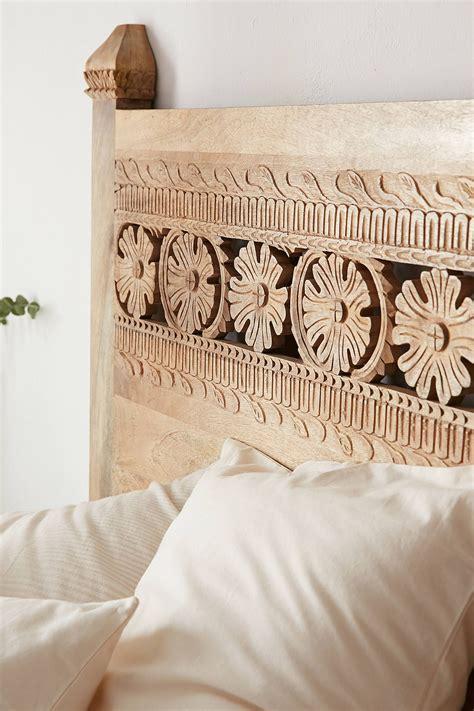 Carved Wood Headboard Pranati Carved Headboard Bedrooms