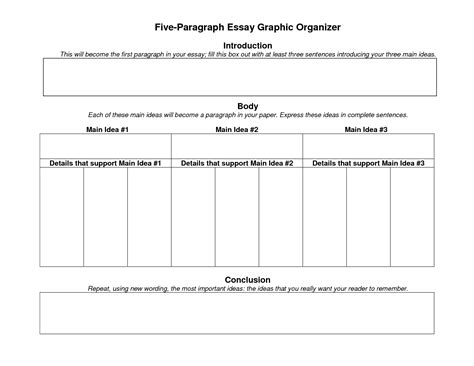 Graphic Organizer For Writing 5 Paragraph Essay by 5 Paragraph Essay Graphic Organizer For High School Writefiction581 Web Fc2