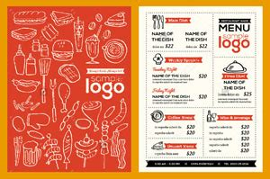 small menu template μενού τιμοκατάλογοι