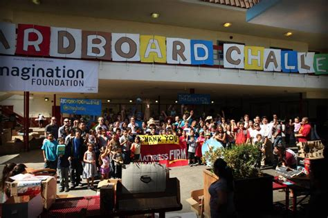 challenger school hollenbeck imagination foundation 2013 global cardboard challenge