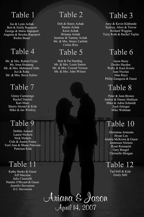 wedding seating chart template word plot