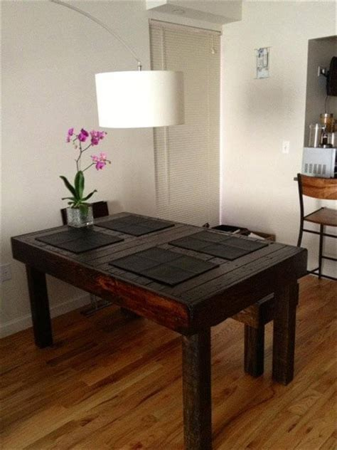 Wood Pallet Dining Table Diy Pallet Built To Last Dining Table 101 Pallets