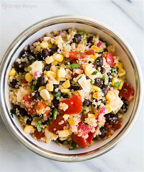 quinoa salad recipes mexican quinoa salad with black beans corn and tomatoes