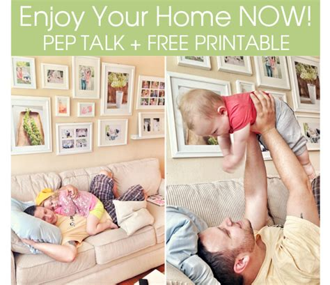 Enjoying Your Home by Enjoy Your Home Now Pep Talk Free Projects