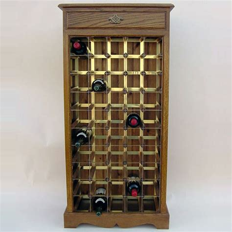 cabinet wine bottle rack 50 bottle oak brass wooden wine cabinet rack wineware