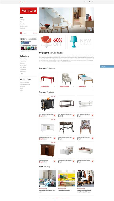 shopify themes furniture furniture pieces shopify theme 51967
