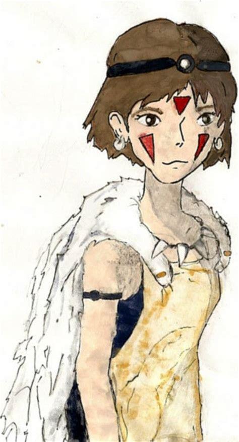 Print Cut Princess Academy princess mononoke watercolor 183 a drawing 183 drawing