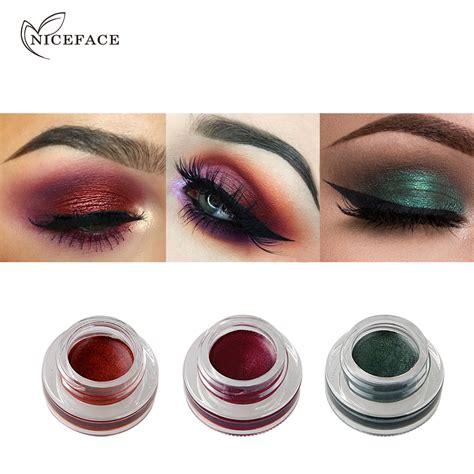 Eyeshadow Gel niceface shine eyeshadow gel 15 color waterproof wear eye liner illuminating