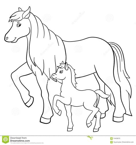 coloring pages of horses and foals foal clipart pencil and in color foal