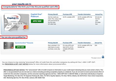 Pre Approval Letter Credit Card view your capital one pre qualified cards doctor of credit
