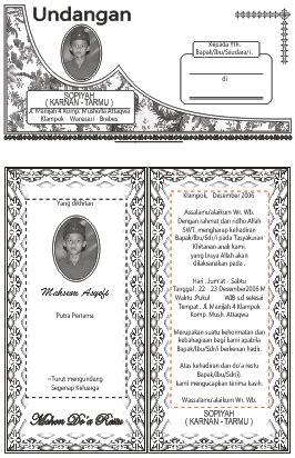template undangan khitanan word download undangan gratis desain undangan pernikahan