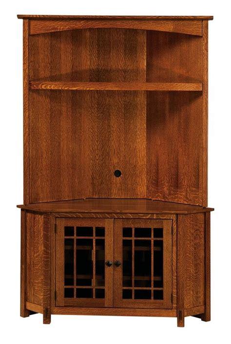 corner cabinet tv stand hutch amish mccoy corner hutch entertainment center