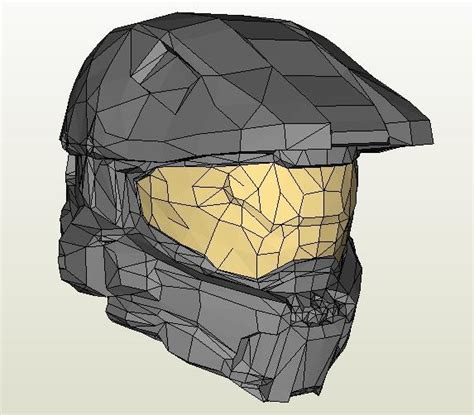 How To Make A Master Chief Helmet Out Of Paper - papermau halo 4 master chief helmet paper model by