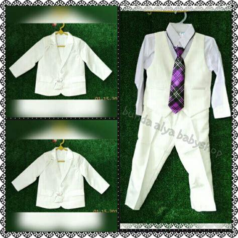 Thn Stelan Tuxedo Jas Anak 5in1 Jas Vest Kemeja Dasi Kupu Cela Cuci Gu jual 0 2 4 tahun tuxedo premium jas anak 5in1 gading