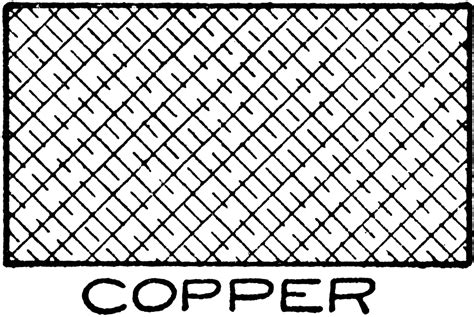 Mechanical Drawing Cross Hatching Of Copper Clipart Etc