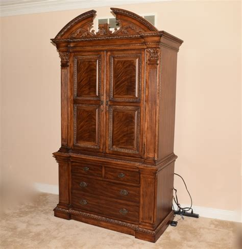 Universal Furniture Ornate Walnut Armoire Ebth