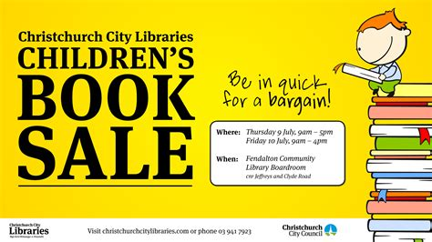 book for sale events christchurch city libraries