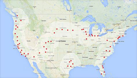 tesla s free coast to coast supercharger route to be