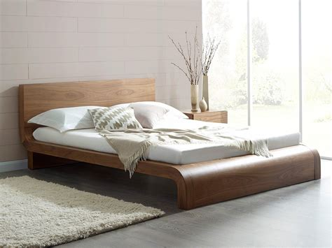 modern bed roma natural walnut contemporary bed modern bedroom