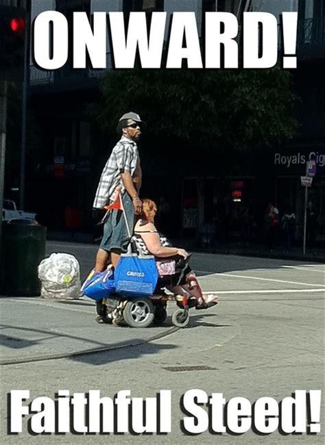 Merica Wheelchair Meme - funny riding a wheelchair dump a day