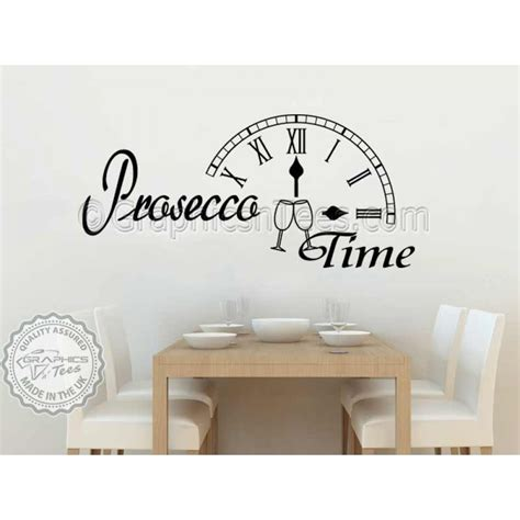 wall decals for dining room prosecco time kitchen dining room wall sticker fun quote