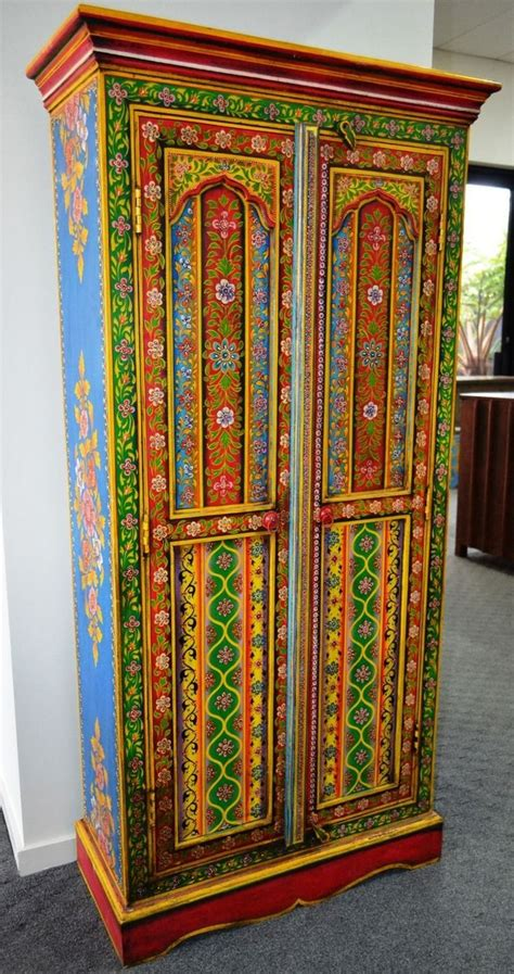 hand painted armoire ideas hand painted wardrobe cupboard storage cabinet closet