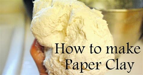 What Do You Use To Make Paper Mache - how to make paper clay from toilet paper and then use it