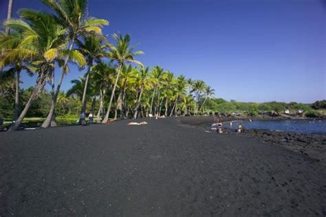 black sand island プナルウブラックサンドビーチパーク picture of punaluu black sand beach