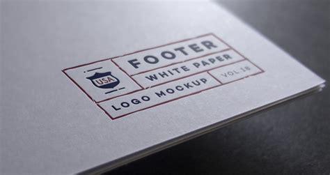 Paper Logo Mock Up Template   Psd Mock Up Templates   Pixeden