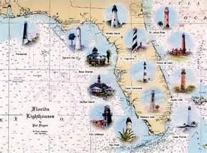 florida lighthouses map florida