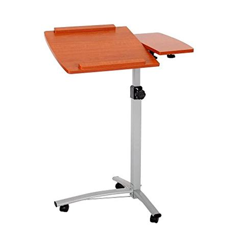 Adjustable Rolling Laptop Desk Ohuhu Angle Height Adjustable Rolling Laptop Desk Lapdesk Import It All