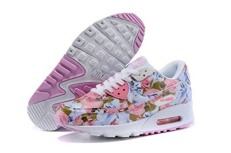 Nike Airmax90 Motif nike air max 90 chaussures femmes fleur blanc