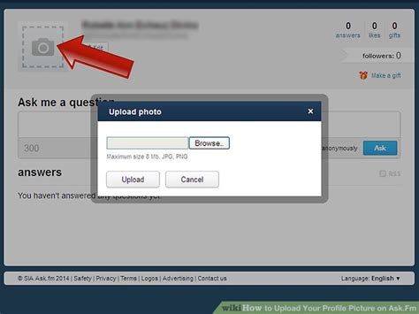 askfm profiles how to upload your profile picture on ask fm 7 steps