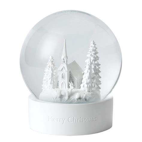 white snow globe christmas decoration 2017 wedgwood