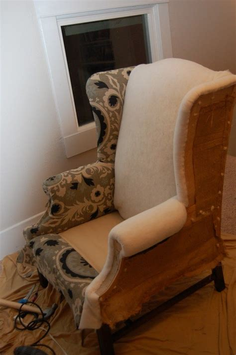Recover Armchair by How To Reupholster A Wingback Chair Ottomans Wings And I Am