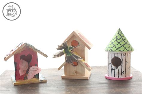 crafts painting birdhouses on canvas