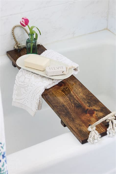 diy bathtub tray free plans diy bath tub tray tutorial