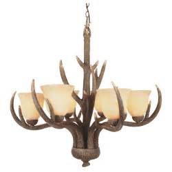 chandelier antler trans globe lighting 6 light replica antler chandelier