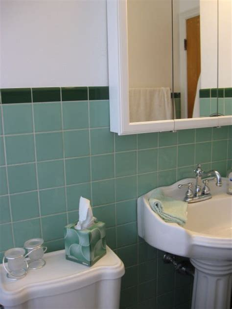 green tile bathroom ideas 36 1950s green bathroom tile ideas and pictures