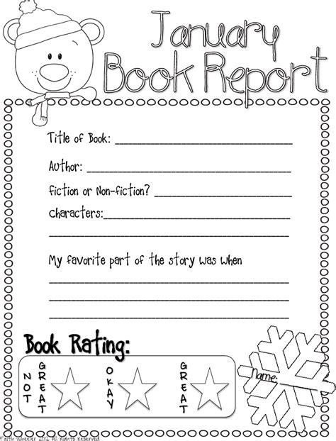 kindergarten book report book report freebie other january favorites