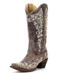 Corral women s brown crater bone embroidery boot a1094