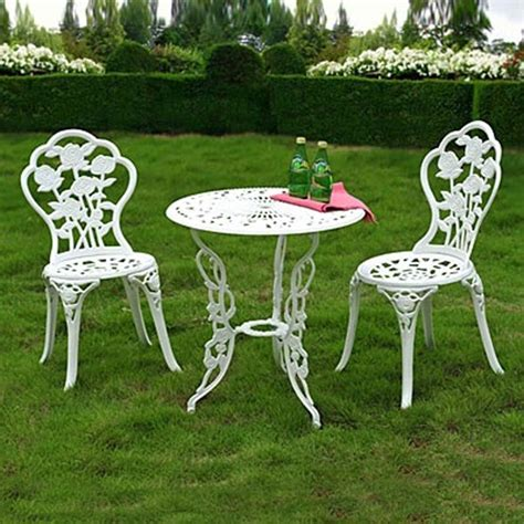 white cast iron patio furniture zest garden recalls wilson fisher bistro sets due to fall hazard sold exclusively at big lots