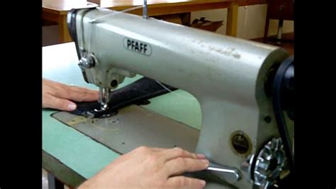 Sewing Upholstery by Pfaff 463 Industrial Sewing Machine With Table Sews