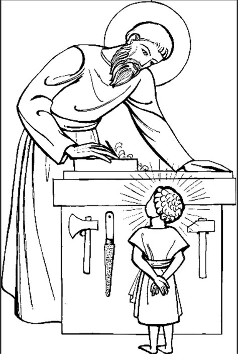 coloring pages of joseph the carpenter free jesus the carpenter coloring pages