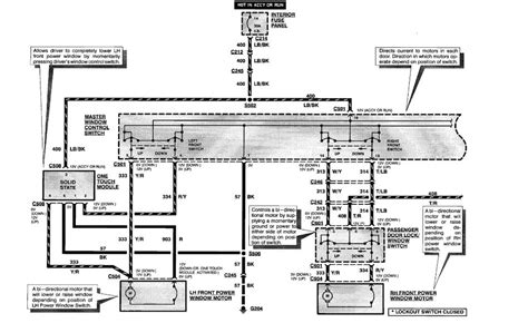 power windows master control wiring diagram