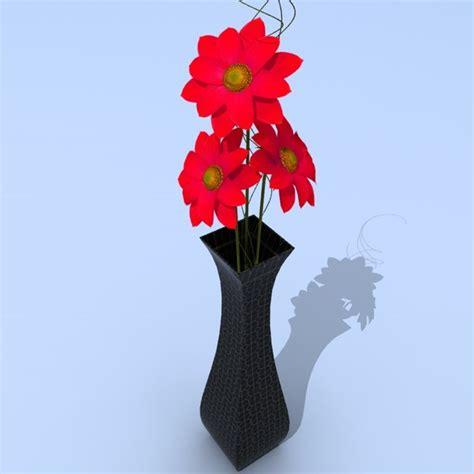 3d Flower Vase by Flower Vase 3d Model