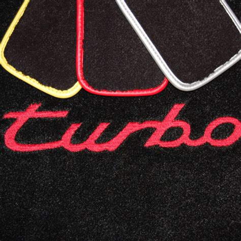 Turbo Mat by Porsche Panamera Turbo Logo Floor Mats