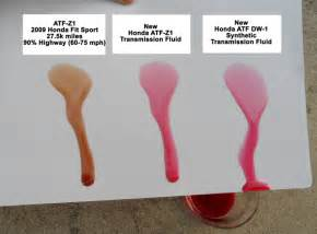 color of transmission fluid changed transmission fluid atf z 1 and new synthetic dw