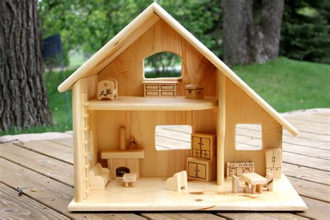 Handmade Wooden Doll Houses - handmade wooden dolls house baby dolls ideas
